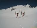 Adijo sneg, gremo na morje....   (slikano v petek 15.6.2012 pod Hochalmspitzom).