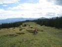 Spust proti koči na Travniku.
