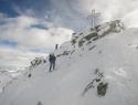Je šlo z dilami z vrha (2974m).