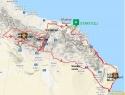 Karta kolesarske trase Oman.