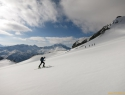 Po ledeniku Kleinelend. V ozadju Hochalmspitze.