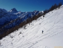 Zadaj levo šef becirka, Mosermandl, 2680 m.