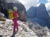 Desno Cima Tosa  3173 m, z ozebnikom Canalone della Tosa.