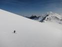 Fajn smučarija po zgornjem delu ledenika Hochalm.