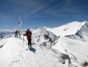 Z vrha Oberlercherja je šlo z dilami po grebenu. Zadaj desno Hochalmspitze.