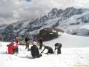 Popoldanski trening ledeniške tehnike.