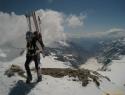 IngeMarta na vrhu Johannisberga (3453m).