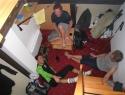 Apartma nad picerijo (na planinsko izkaznico), namesto neogrevanih skupnih ležišč v koči Merjasec.
