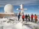 Na vrhu (2140m) smo se srečali z Ludvikovo ekipo.