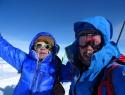 Franc in Boris na vrhu Denalija, 6190m, 28.5.2019 ob 19 15 uri.