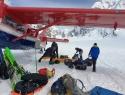 Letalska baza na ledeniku Kahiltna, 2000m.