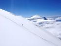 Aklimatizacija nad bazo. V ozadju Mt. Foraker, 5304m.