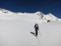 Čez ledenik Malhamkees proti vrhu.