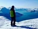 Pogled na fjord na poti na Kvannfjellet (1011 mnv).
