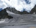 Razpokan ledenik.
