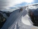 Vezni snežni greben.