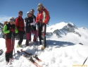 Na smučarskem vrhu (3051m), ki je malo nižji od glavnega (3107m). PB za Sebana.
