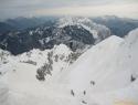 Pogled z vrha Vrtače proti Palcu.