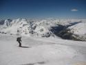 Ledeno… Spodaj dolina proti Bormiju.