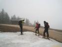 Snega nam je zmanjkalo na spodnji postaji spodnjega sidra.