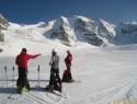Na ledeniku Pers; v ozadju 3glavi Piz Palü.