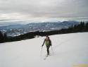 Vzpon na Črni vrh.