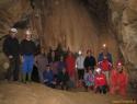 Gasilska pod slapom v Zelških jamah.