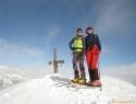 Metka in Suzana na vrhu – 2696m.
