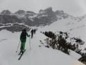 Megla, sneženje in ledena pobočja so nas pričakala v soboto zjutraj.