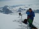Razgled iz sedla pod vrhom Schesaplane (2965 m).