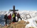 Skupinska na vrhu (2852m) z Glocknerjem na dlani.