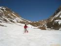 Kljub malo snega, smo imeli neprekinjeno smuko 5m izpod vrha pa do avta.