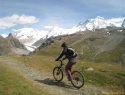 Spust s panoramo od Monte Rose do Breithorna.