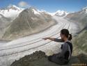 Aletschgletscher, najdaljši ledenik v Alpah (23 km).