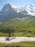 Spust proti Kleine Scheideggu, v ozadju Eiger in Mönch.