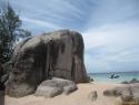 Elephant – najbolj znan balvan na Sairee beachu (Ko Tao).