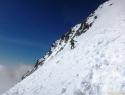 Davo je odsmučal z vrha Malega Kleka.