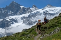 Pod kočo Weisshornhutte, 2932 m.